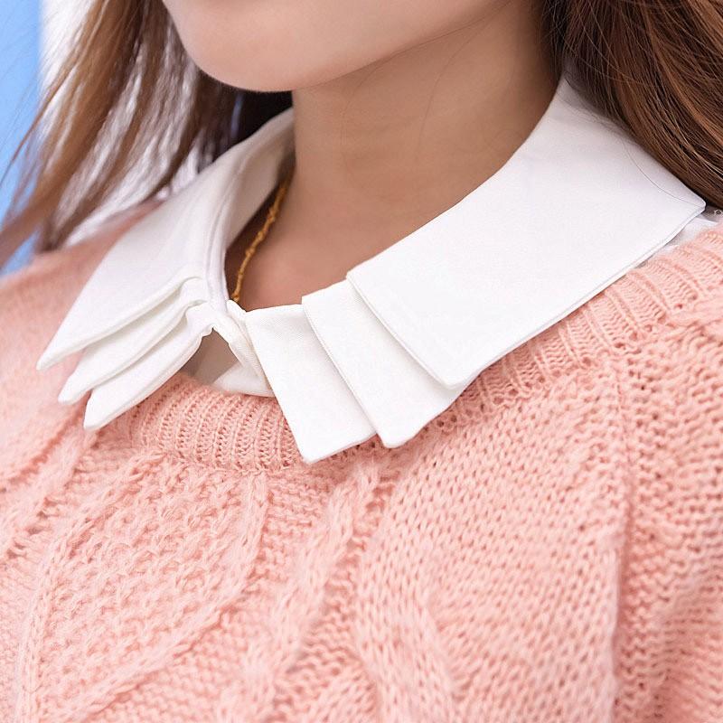 通勤族OL 百搭假領子襯衫 韓國毛衣裝飾領假領子女士多層假領襯衫領子襯衣領假衣領YE004