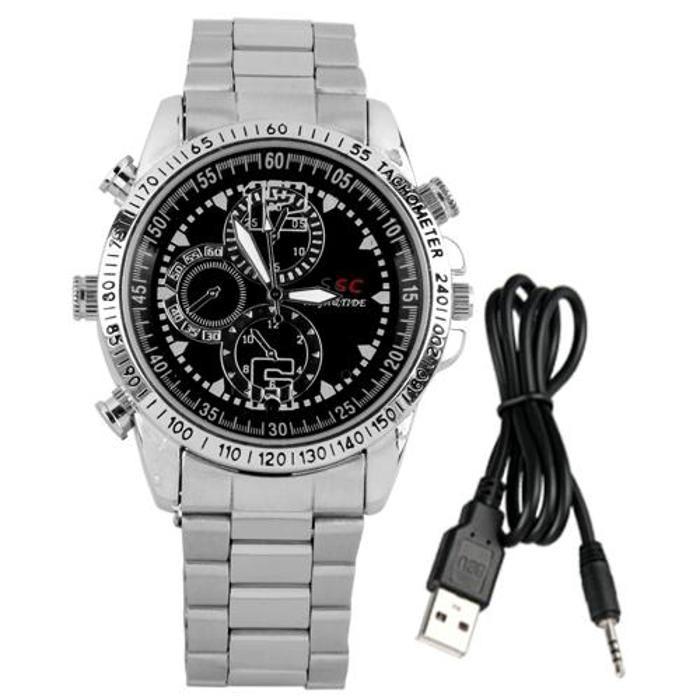 迷你間諜腕錶4GB 高清DVR 攝像機攝像機錄像機1280 960 LED 隱藏DV