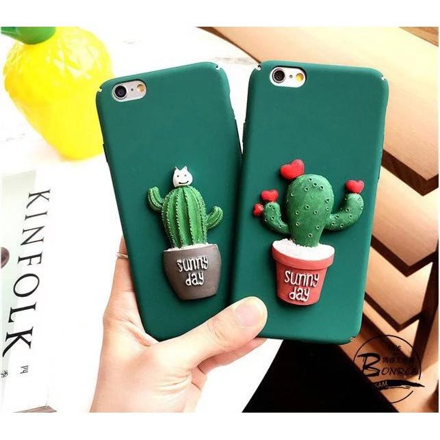 仙人掌手機殼iPhone6plus 韓國立體蘋果6 磨砂保護套全包殼iphone6 系列手