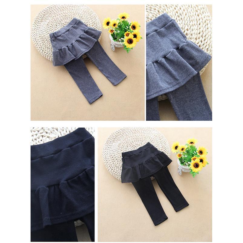 春 薄款假兩件式女童內搭褲裙溫柔膚觸內裡窄管內搭褲好穿有型亮彩繽紛花色好時髦 純棉透氣舒適