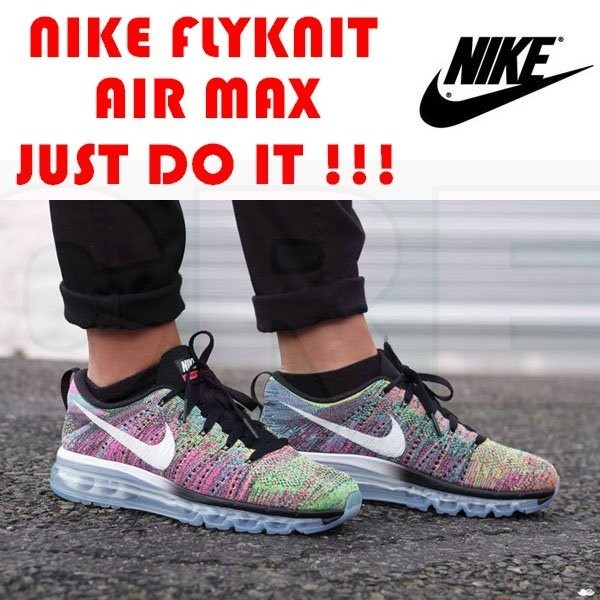 ~CREW ~Nike Air Max Flyknit 單件兩雙再現折 編織冰底黑白雪花美