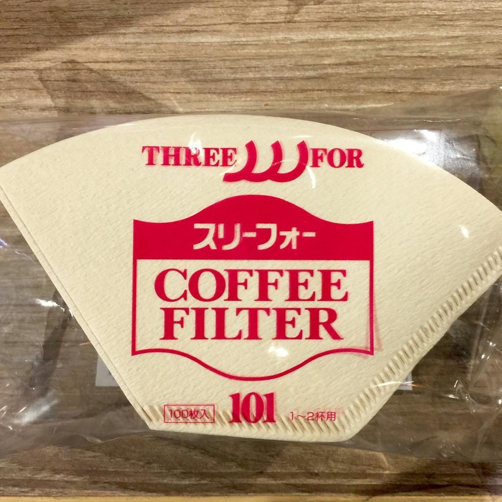 製三洋濾紙咖啡濾紙無漂白扇形濾紙G101 三洋濾杯100 入一包