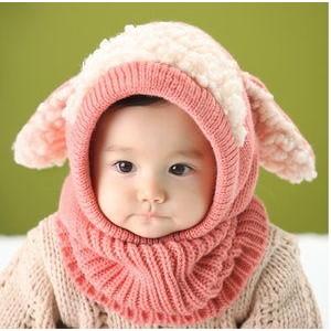 兒童帽子寶寶毛線帽嬰幼兒圍脖嬰兒披風斗篷保暖披肩童帽6 36 個月