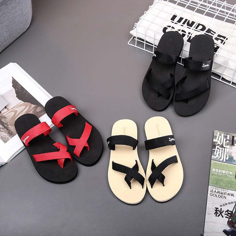 夏人字拖男女涼鞋防滑厚底拖鞋簡約 透氣耐磨沙灘鞋套趾涼拖鞋