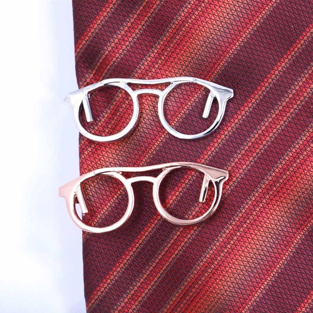 ~型男 ~男士領帶夾眼鏡款金屬 高檔拋光正裝襯衫配搭