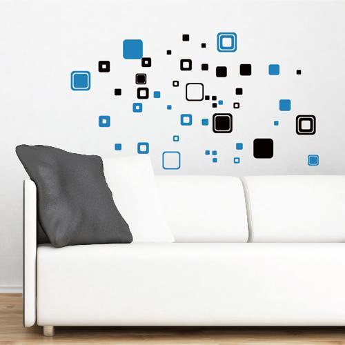 壁貼 無痕Smart Design ◆矩形2 張黑色底6 色只能宅配宅配