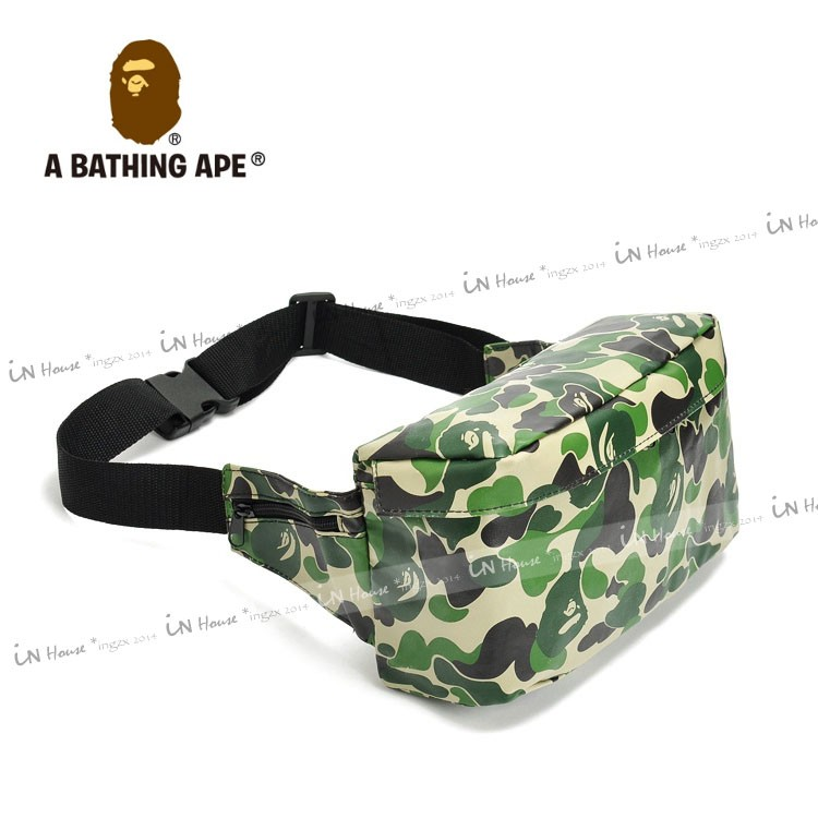 IN House Smart 雜誌附錄A BATHING APE CAMO 猿人頭迷彩腰包
