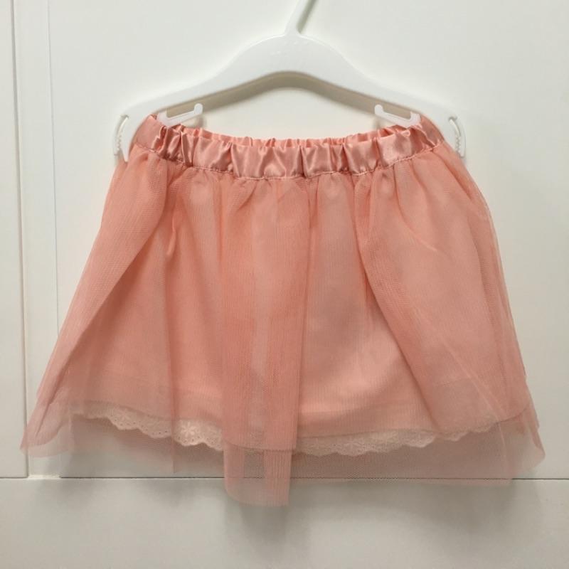 ✨ ✨ 麗嬰房女童粉橘紗裙3S 100cm