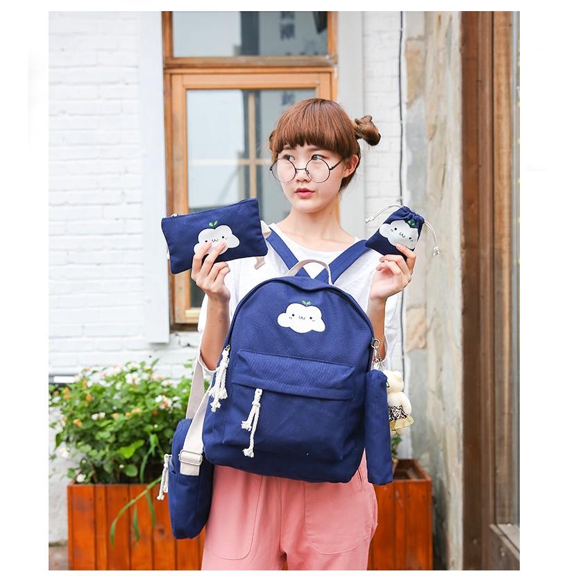 雙肩包女包電腦包學院風休閒帆布初中學生書包旅行包背包潮背包雙肩包化妝包小包肩背包側背包零錢