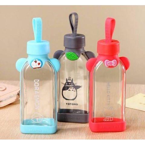 彈跳玻璃水壺玻璃瓶kitty 玻璃杯玻璃組玻璃喝水飲水水杯杯子瓶子水壺 外出