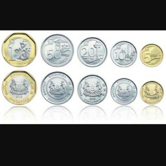 新加坡硬幣五個一組