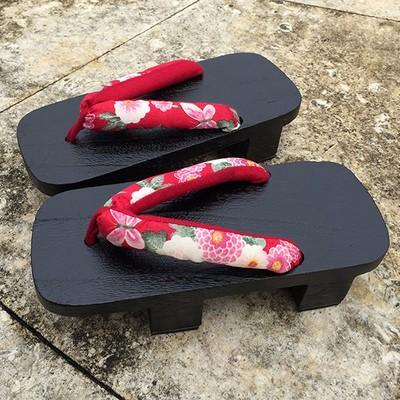 網絡爆款!日式拖鞋 高跟木頭涼鞋 日式燒桐下馱cosplay 男女款二齒木屐木拖鞋