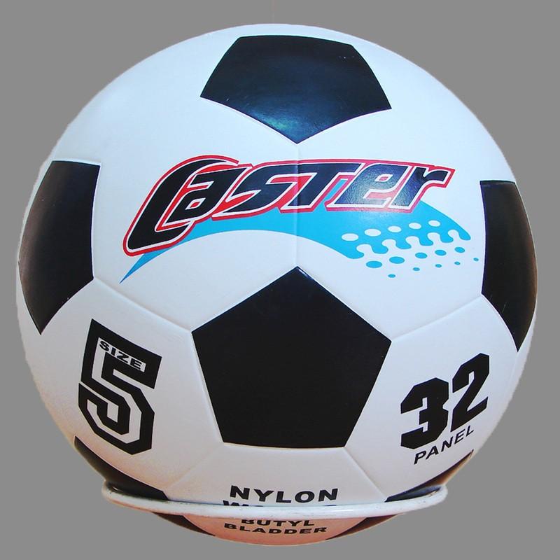 小港3C ~一年保~CASTER 5 號足球白黑~22 公分~學校足球 足球室外足球橡膠足