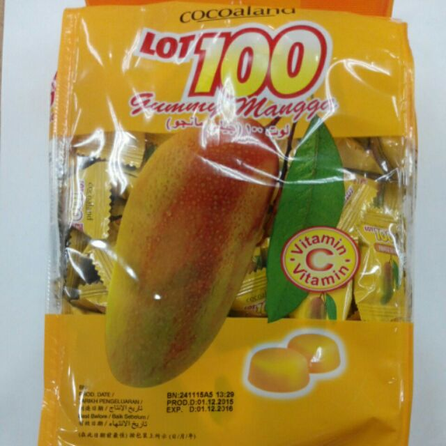 好吃喵o ≧▽≦o 馬來西亞一百份芒果荔枝鳳梨口味軟糖1000G