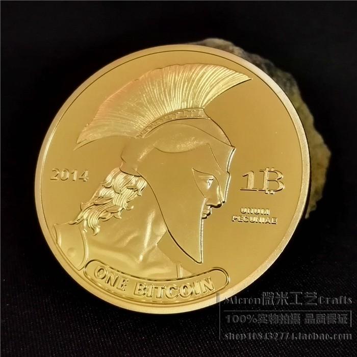2014 美國盔甲比特bitcoin BTC 幣章硬幣外幣收藏金銀錢幣