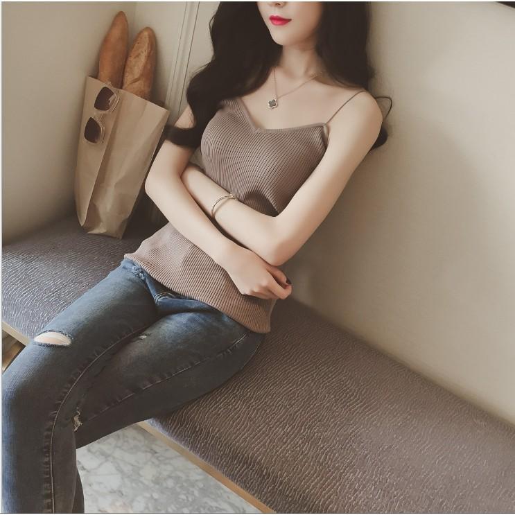 開賣特惠149 到10 月✨泡泡 ✨超好看韓款性感修身露肩顯瘦背心針織