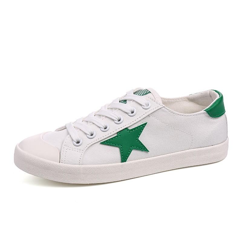 潮流風暴女主角環球明星同款小白鞋女夏 平底布鞋白色帆布鞋女學生板鞋白球鞋男鞋女鞋休閒鞋 鞋