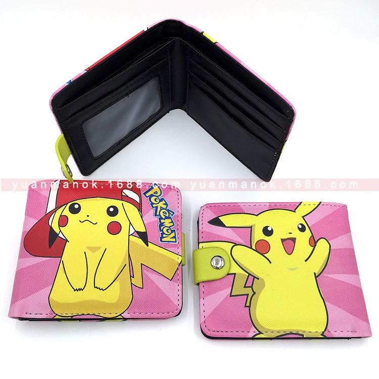 口袋妖怪pokemon go 寵物小精靈皮卡丘神奇寶貝小智動漫短款錢包包肩背包後背手提包手