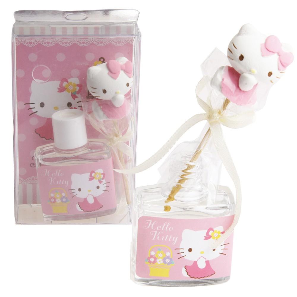 凱蒂貓香水Hello Kitty 薰香組8ml 三麗鷗 紓壓香氛劑擴香瓶香水瓶檸檬香