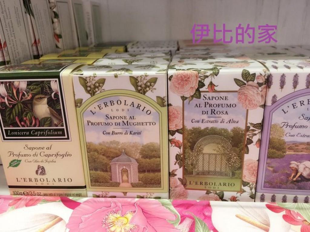 L ERBOLARIO 蕾莉歐植物香氛皂100g 玫瑰薰衣草忍冬檀香 (專櫃新品)