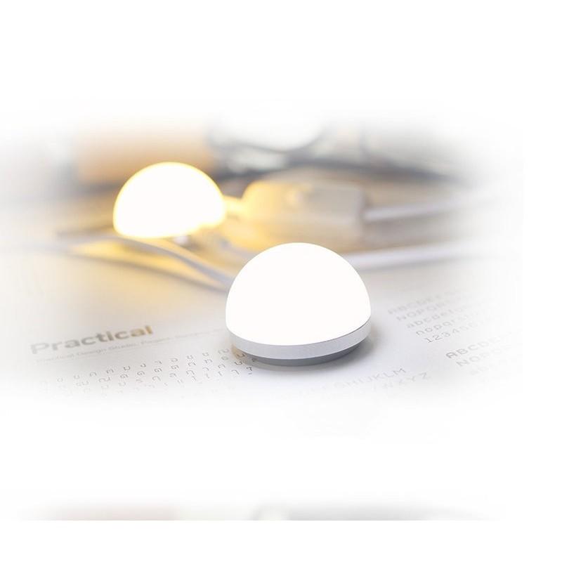 ~磁吸小圓燈~小超輕巧LED 磁吸閱讀隨身USB 小圓燈讀書燈護眼小夜燈6LED 床頭檯燈