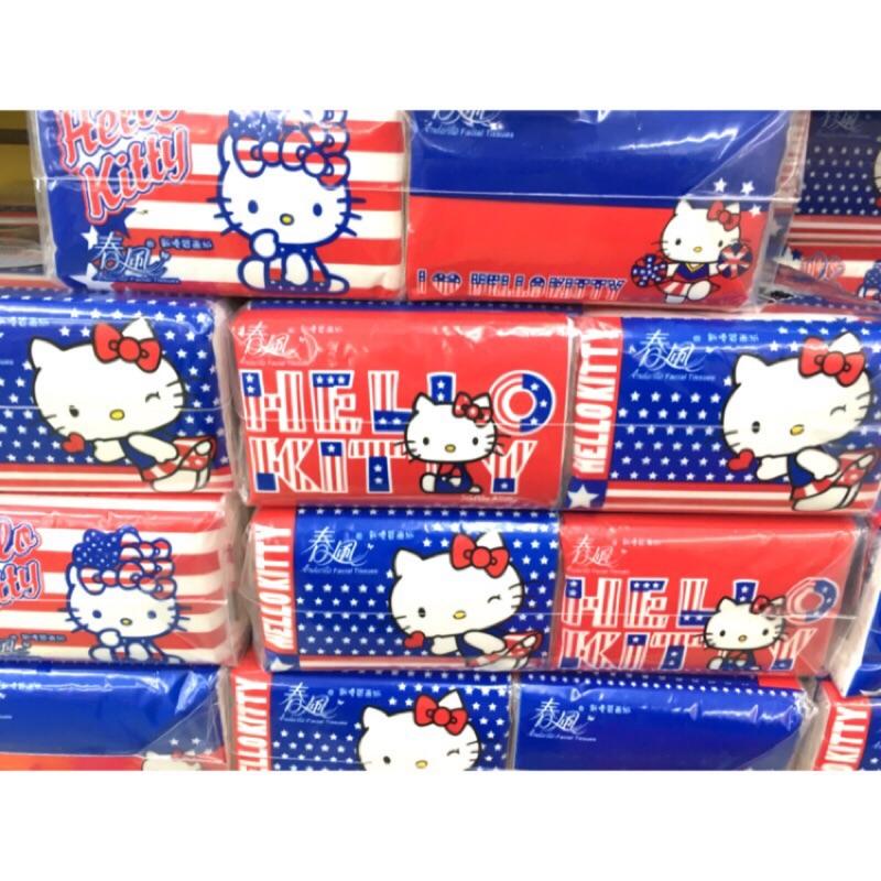 Hellokitty 春風袖珍包面紙衛生紙30 包10 抽雙層隨身包英倫風新 面紙100