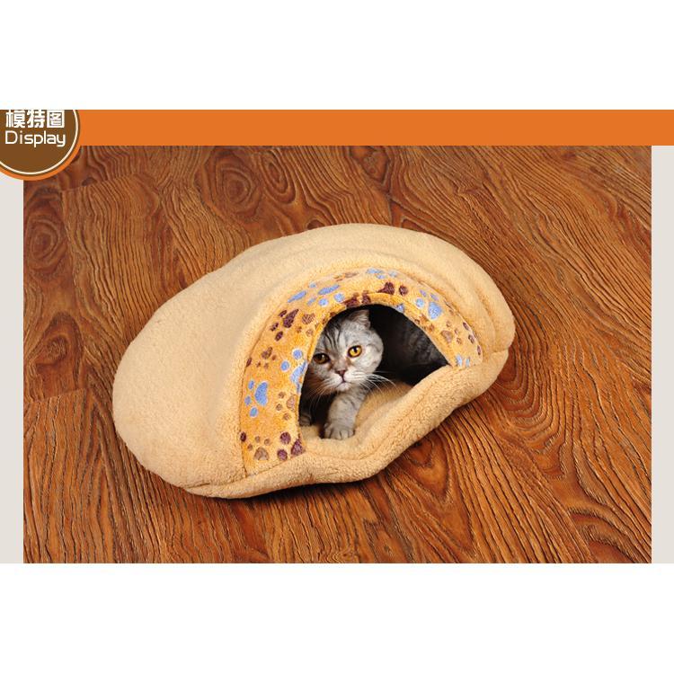 ~古蹟喵~小爪印貓睡袋貓窩貓床睡墊長55cm