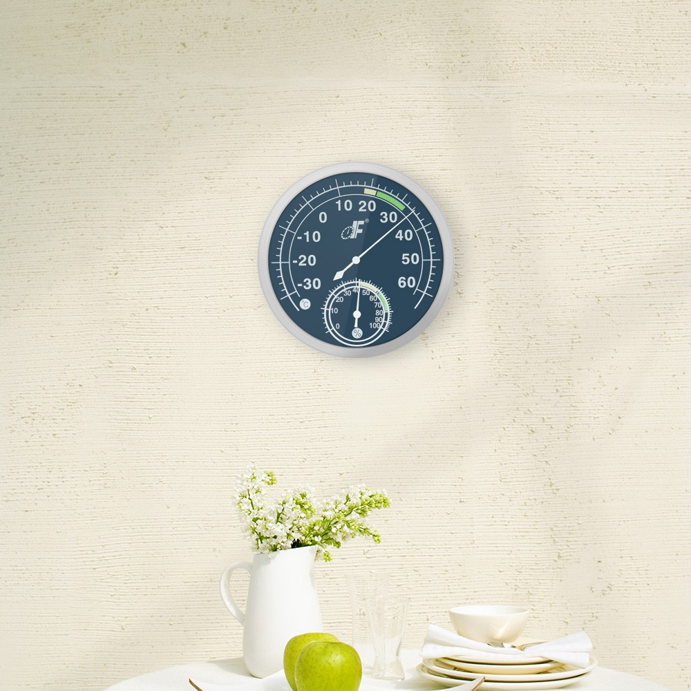 30 60 °C 不銹鋼溫濕度計指針溫濕度儀表室內外溫濕測量TH603