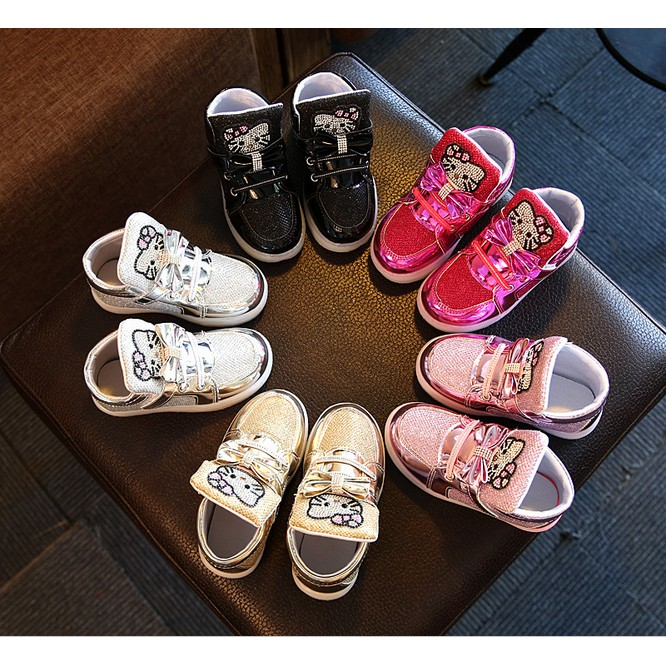 KT 公主鞋春秋 小童中童大童兒童鞋子女童帶燈閃燈發光單鞋童鞋女