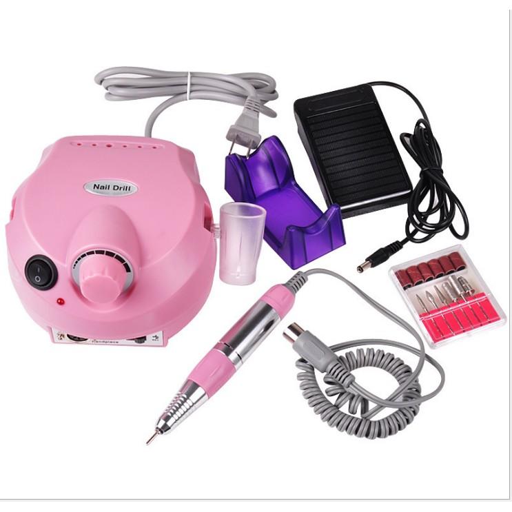 美甲打磨機30000 轉ZS 601 電動磨甲機指甲打磨機粉色白色