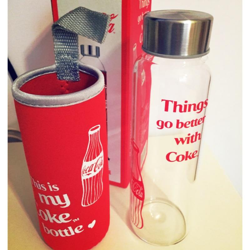可樂Cocacola 版OK 便利商店玻璃瓶玻璃杯隨身瓶攜帶瓶水壺
