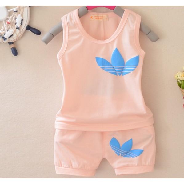 三葉草兒童男女 衣服寶寶夏裝背心短褲套裝嬰兒0 3 歲