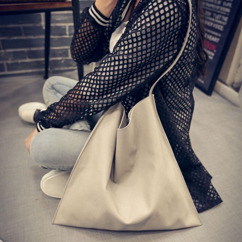 極簡風單肩大包包子母包百搭PU 皮 袋簡約手提包女化妝包小包肩背包側背包皮夾長夾短夾中夾零