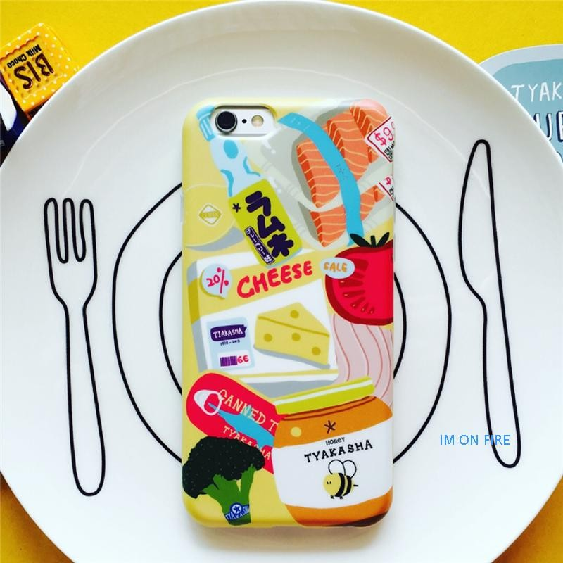 原創 tyakasha 塔卡沙超市系列食物IMD 不掉色工藝軟殼全包蘋果iPhone6 6