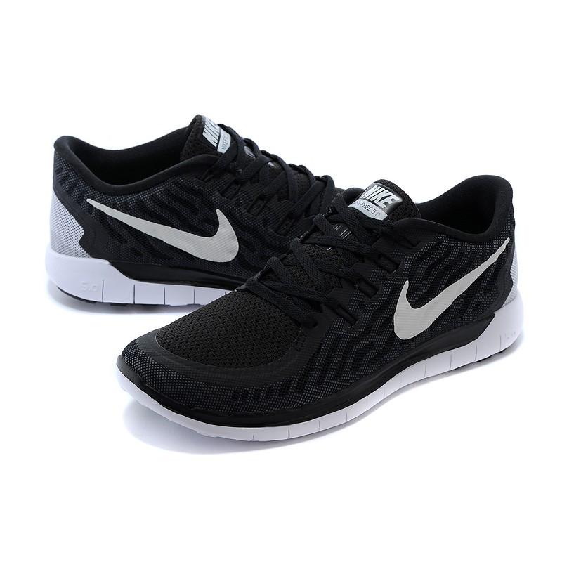 ~T 韓國 ~Nike 5 0 Free RN 赤足編織針織飛線超輕跑鞋跑步鞋黑白男子訓練