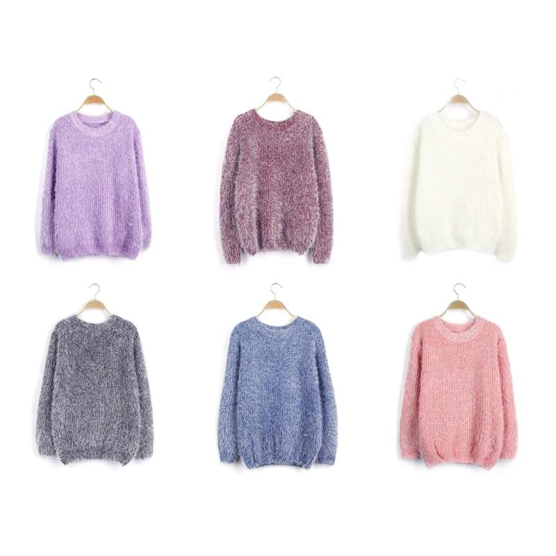❤️❤️韓國 女裝海馬毛針織套頭上衣針織毛線衛衣