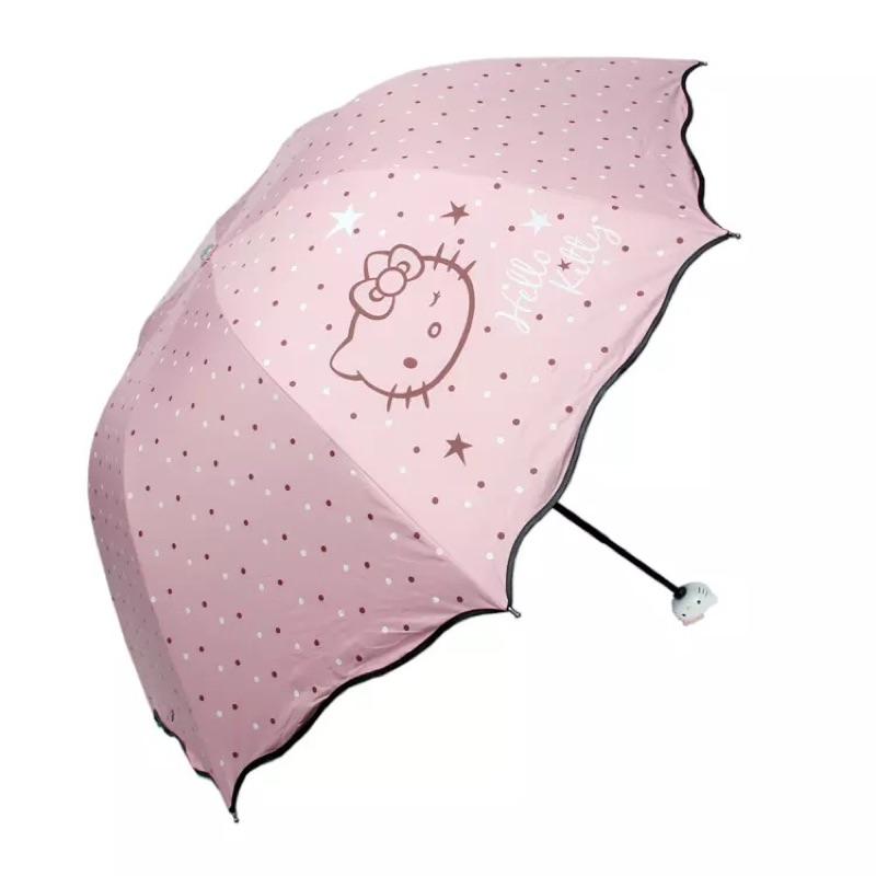 三麗鷗 hello kitty 公主系點點波浪陽傘雨傘