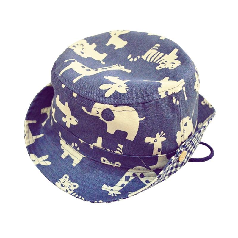E mirreh 全棉男童動物園日系遮陽帽太陽帽防曬帽漁夫帽