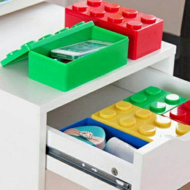 樂高積木收納盒 收納盒文具收納盒可疊式收納工具桌面整理盒小物收納書桌化妝品收納二種尺寸