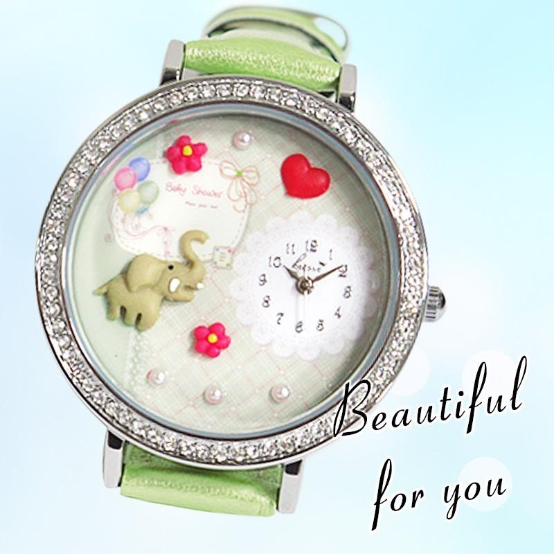 mini 正韓陶土錶粉雕錶韓國100 正品純 立體軟陶錶少女情人節~贈 盒~~Girl ~