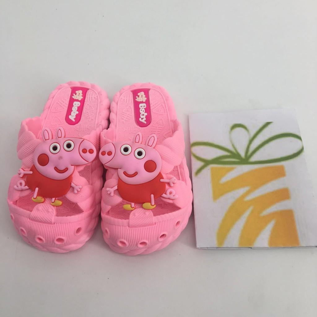 佩佩豬兒童拖鞋兒童凉拖鞋 女童男童小孩寶寶浴室內家居防滑卡通可愛涼拖