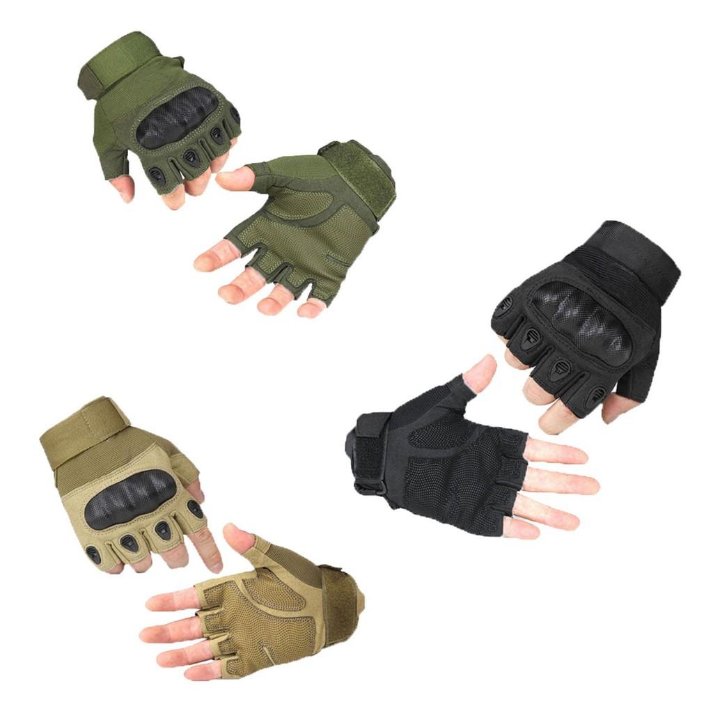 1 套2 件戶外登山防割半指手套化纖1 雙手套23x17x8 2cm