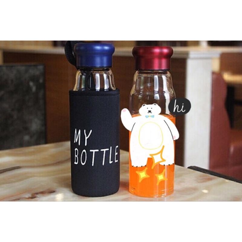 My Bottle 強化玻璃杯420ml 無毒耐熱玻璃杯