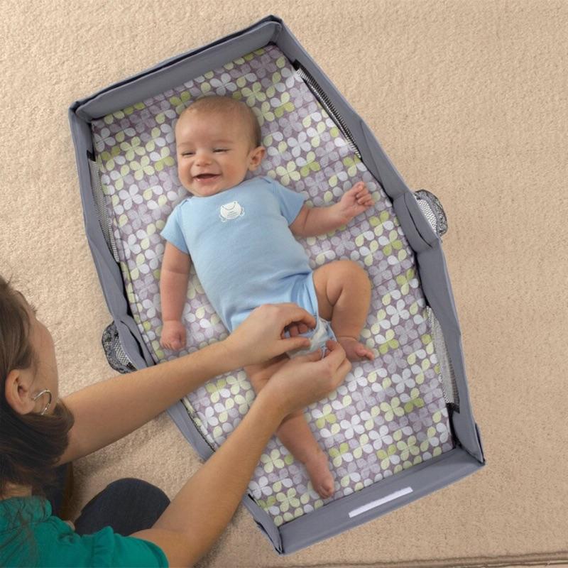外出便攜式嬰兒床寶寶分隔床安全折疊小床可愛多 旅行床床中床