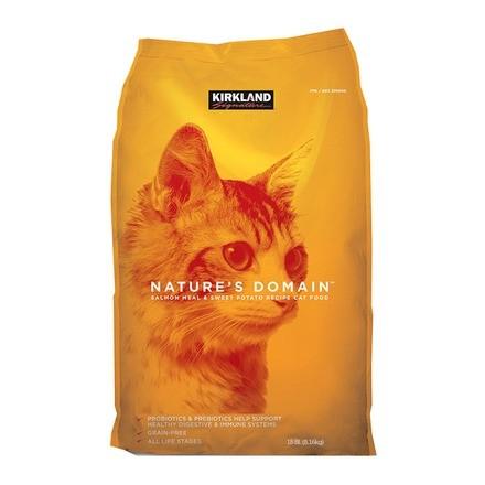 好市多COSTCO 無穀橘包科克蘭鮭魚甘薯配方乾貓糧8 16 公斤