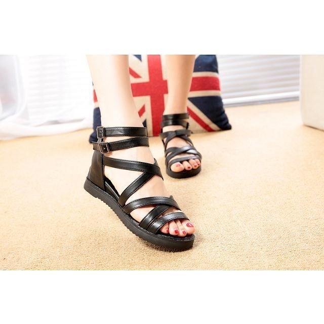 ✨典雅女神款✨ 綁帶平底羅馬涼鞋