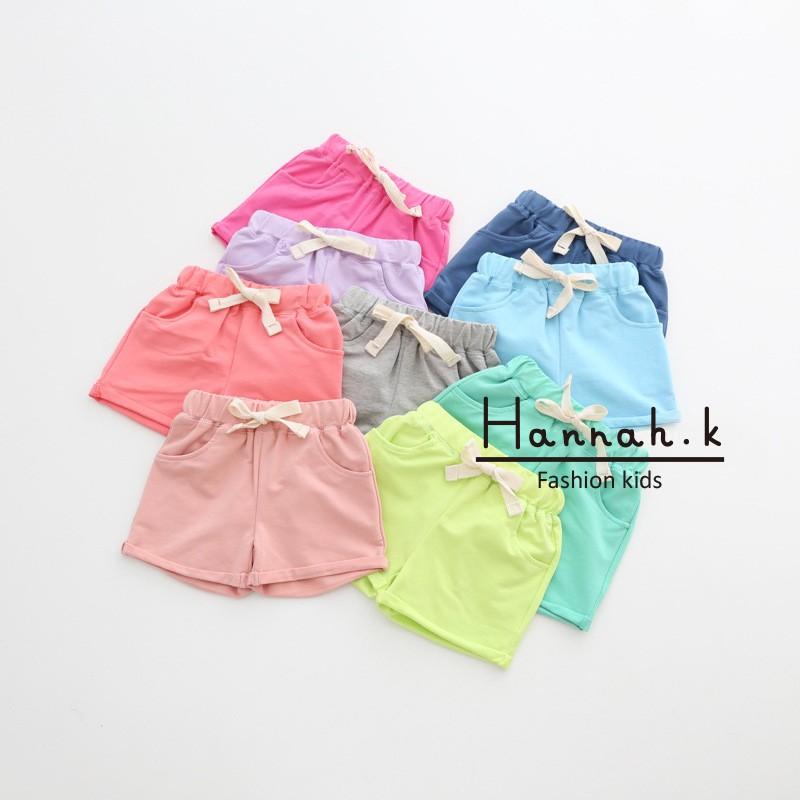女童男童短褲百搭兒童短褲純棉休閒短褲沙灘糖果短褲Hannah K