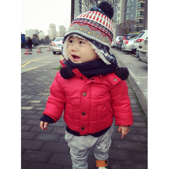 男女寶寶 風雪帽嬰兒兒童護耳帽子外貿0 5 歲