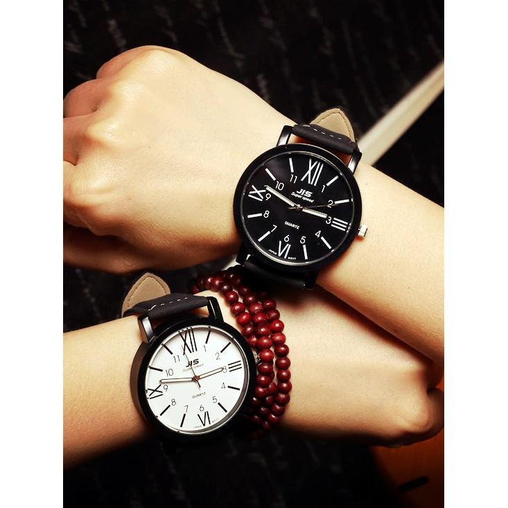 韓國原宿皮帶潮流大錶盤男女學生 情侶手錶石英表
