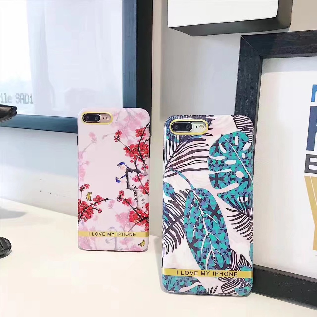 iPhone 手機殼iPhone6 6plus 7plus 保護殼IMD 全包軟殼小清新金
